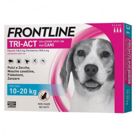 Frontline Tri-Act 10-20Kg 3 Fiale