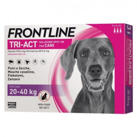 Frontline Tri-Act 20-40Kg 3 Fiale