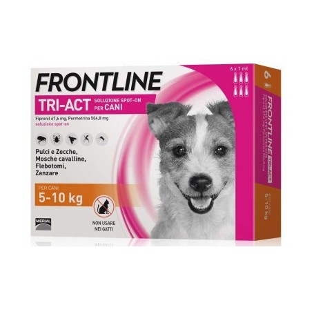Frontline Tri-Act 5-10Kg 3 Fiale