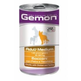 Gemon Bocconi Dog Adult  Pollo-Tacchino 1,250Kg