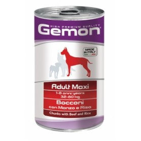 Gemon Bocconi Dog Adult Manzo-Riso 1,250Kg