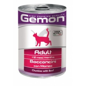 Gemon Cat Adult Bocconi Manzo 415Gr