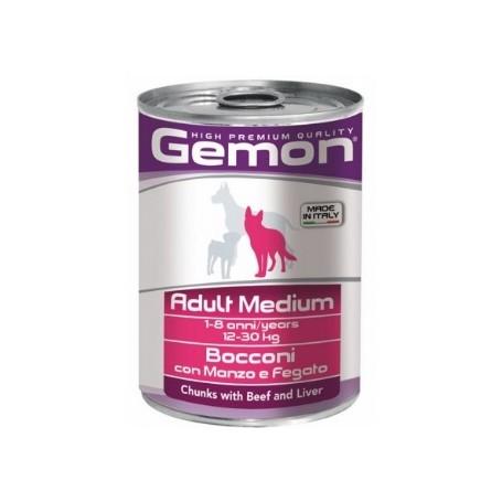 Gemon Dog Adult Bocconi Manzo e Fegato 415Gr