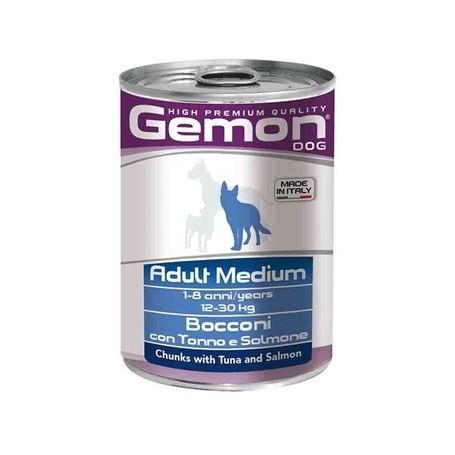 Gemon Dog Adult Bocconi Tonno e Salmone 415Gr