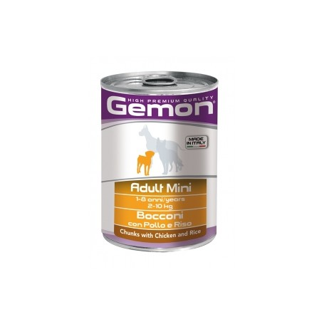 Gemon Dog Adult Mini Bocconi Pollo&Riso 415Gr