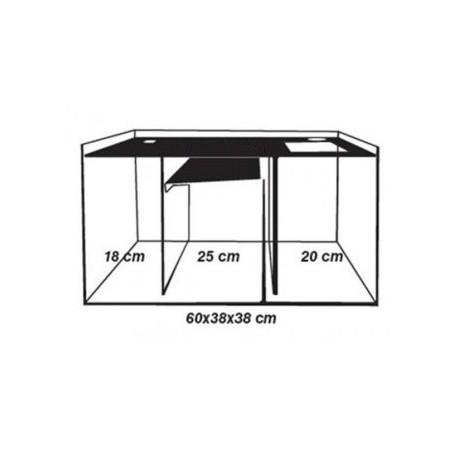 Amtra Sump - Sump in vetro con divisori 65x38x38