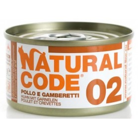 Natural Code 02 Pollo e Gamberetti 85Gr