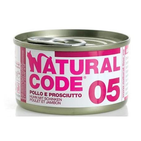Natural Code 05 Pollo e Prosciutto 85Gr