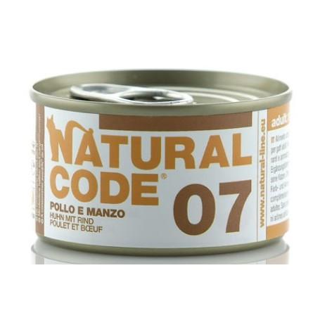 Natural Code 07 Pollo e Manzo 85Gr
