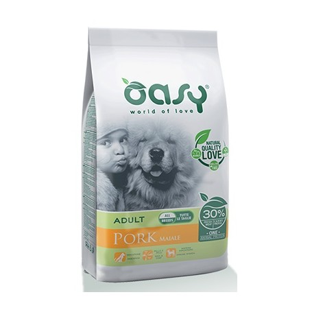 Oasy Cane Adult Medium Large One Protein Maiale 12Kg