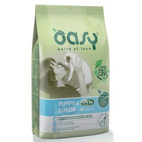 Oasy Cane Puppy & Junior Medium Pollo 12Kg