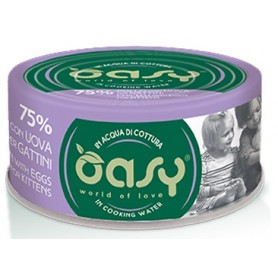 Oasy Wet Cat More Love - Pollo con Uova per Gattini Lattina 70gr