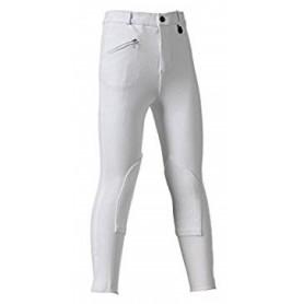 Pantalone Donna Tg.48 Tessuto Elasticizzato Leggero Selene Bianco