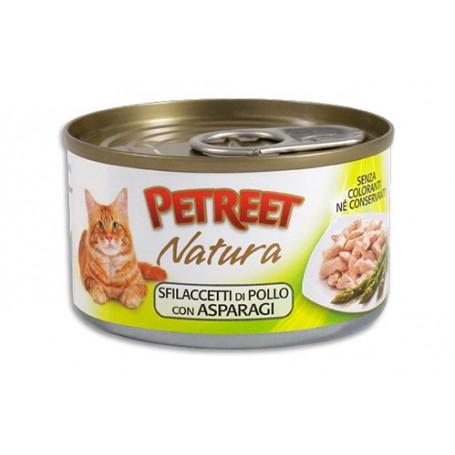 Petreet Sfilaccetti Pollo Con Asparagi 70Gr