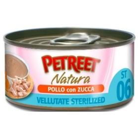 Petreet Vellutate Sterilised Pollo con Zucca 70Gr