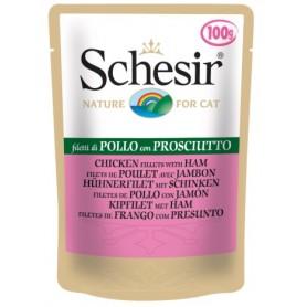 Schesir Bustine Cat Filetti di Pollo con Prosciutto 100Gr