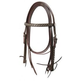 Testiera Western Lakota Silver Wire Con Redini Brown Taglia Full