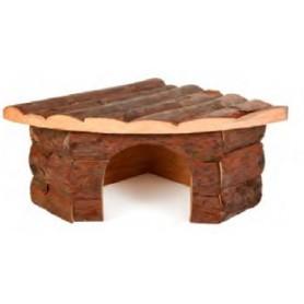 Wood Corner House 42X15X30