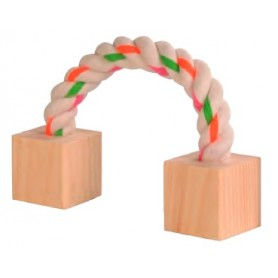 Wood Nibbler With Rope 3X3X20