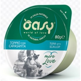 Oasy Wet Cat More Love - Tonno con Capasante Cup 70gr