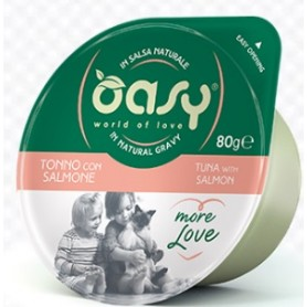 Oasy Wet Cat More Love - Tonno con Salmone Cup 70gr