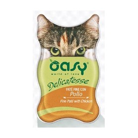 Oasy Wet Cat Delicatesse - Paté con Pollo Vaschetta 85gr
