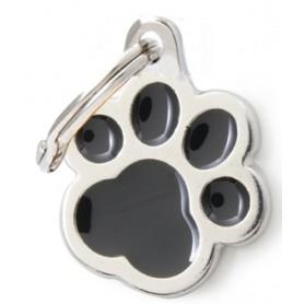 Medaglietta per Cani Impronta Grande Nera
