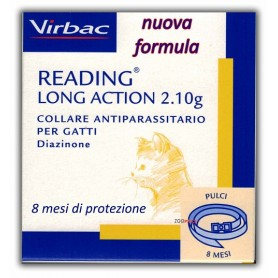 Virbac Nuovo Collare Antiparassitario Gatto Reading Long Action 35Cm