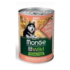 Monge BWild Grain Free Bocconi in Salsa Salmone Zucca e Zucchine 400Gr