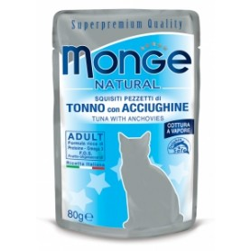 Monge Cat Buste Tonno Con Acciughine 80Gr