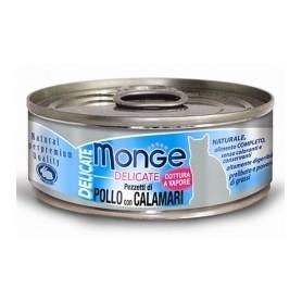 Monge Cat Delicate Pezzetti Di Pollo Con Calamari 80Gr