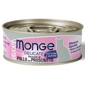 Monge Cat Delicate Pollo-Prosciutto 80Gr