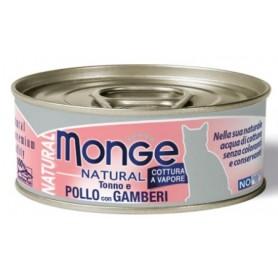 Monge Cat Natural Pollo Con Gamberetti 80Gr