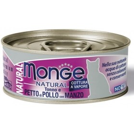 Monge Cat Natural Tonno E Pollo Con Manzo 80Gr