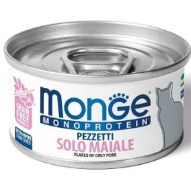 Monge Cat Pezzettii Monoproteico Maiale 80Gr