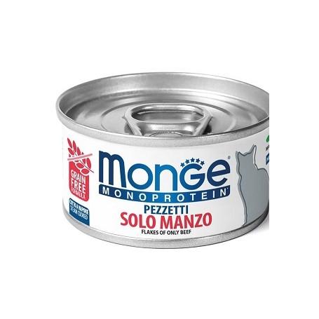 Monge Cat Pezzettii Monoproteico Manzo 80Gr
