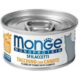 Monge Cat Sfilaccetti Monoproteico Tacchino E Carote 80Gr