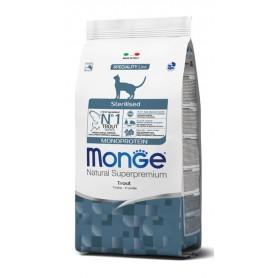 Monge Cat Sterilised Monoproteico Trota 10Kg