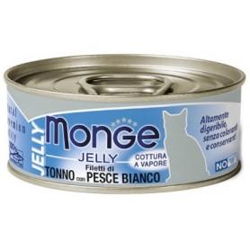 Monge Cat Tonno Con Pesce Bianco Jelly 80Gr