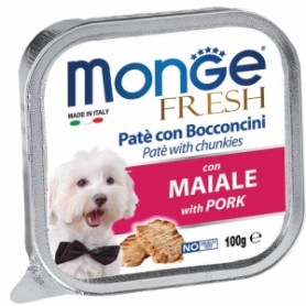 Monge Dog Fresh Maiale 100Gr