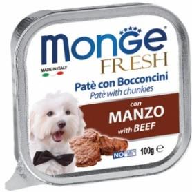 Monge Dog Fresh Manzo 100Gr