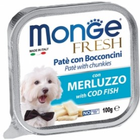 Monge Dog Fresh Merluzzo 100Gr