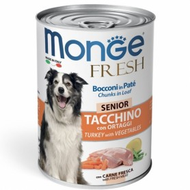 Monge Dog Fresh Senior Tacchino e Ortaggi 400Gr