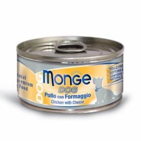 Monge Dog Natural Pollo Con Formaggio 95Gr