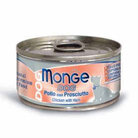 Monge Dog Natural Pollo Con Prosciutto 95Gr