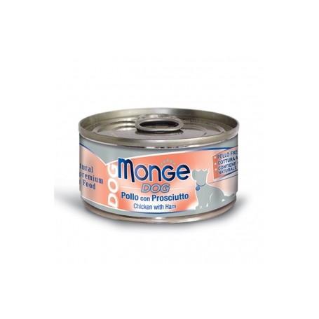 Monge Dog Natural Pollo Con Prosciutto 95Gr