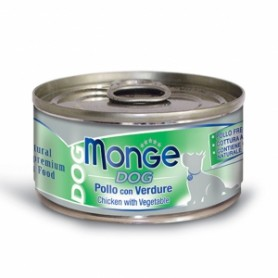 Monge Dog Natural Pollo Con Verdure 95Gr