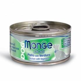 Monge Dog Natural Pollo Con Verdure 95Gr