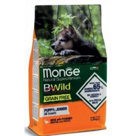 Monge Bwild Grain Free Puppy&Junior Anatra E Patate 2,5Kg