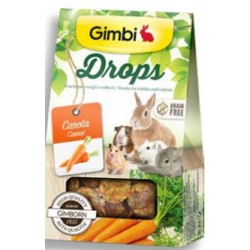 Snack Roditori Gimbi Drops Carote 50Gr